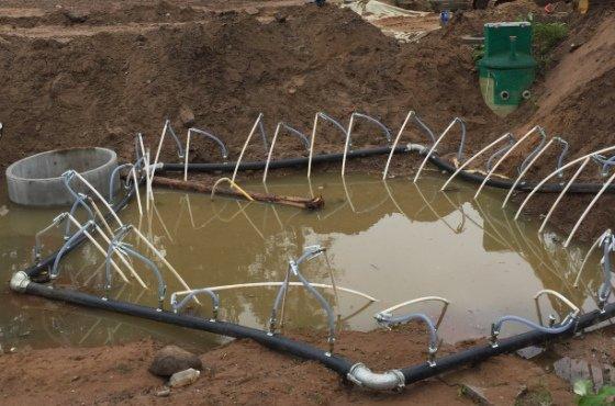откачка воды из котлована