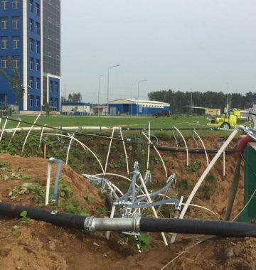 Установка инженерных сетей (дорога в Каменку)