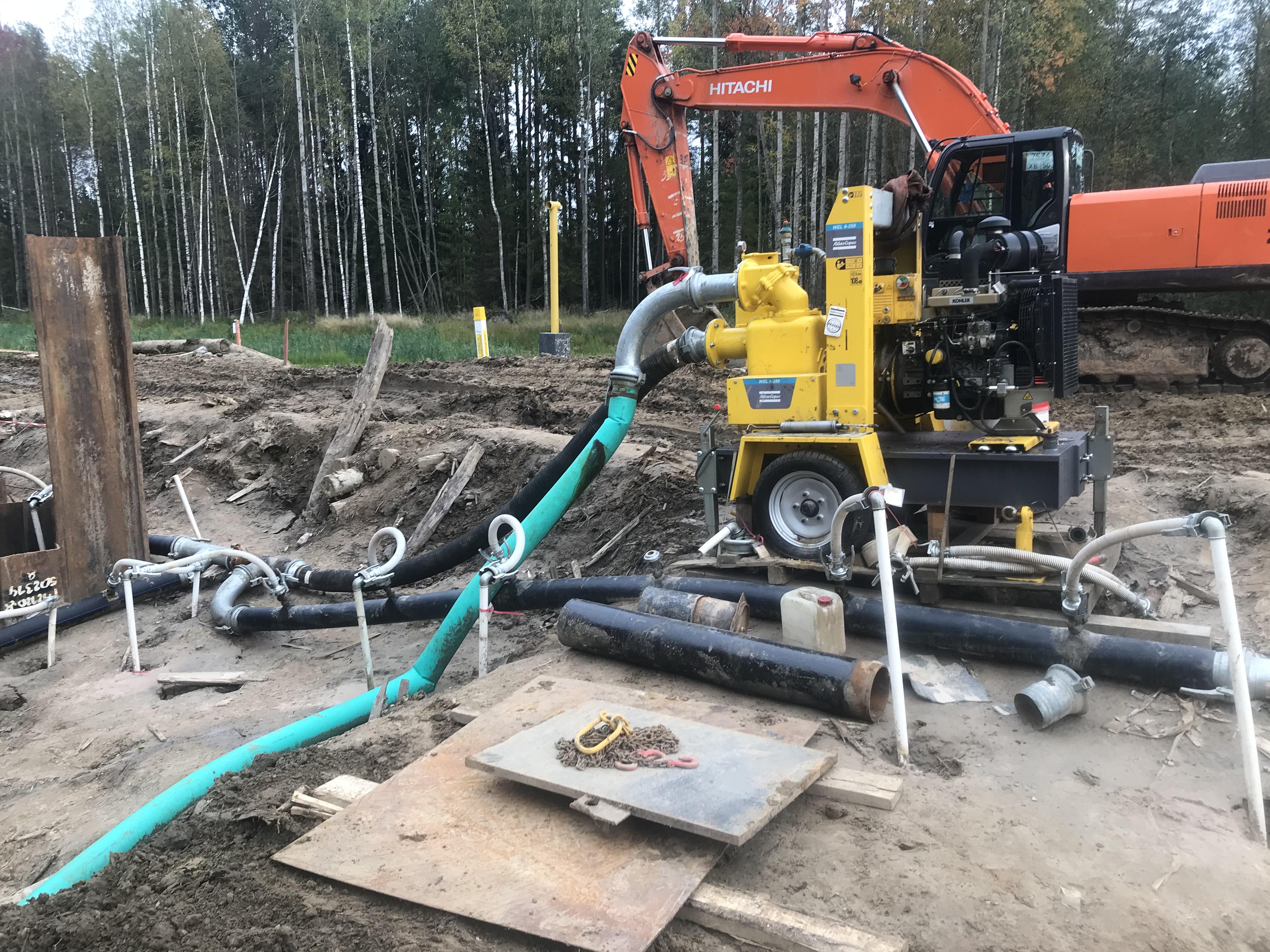 Автономная работа дизельной установки водопонижения