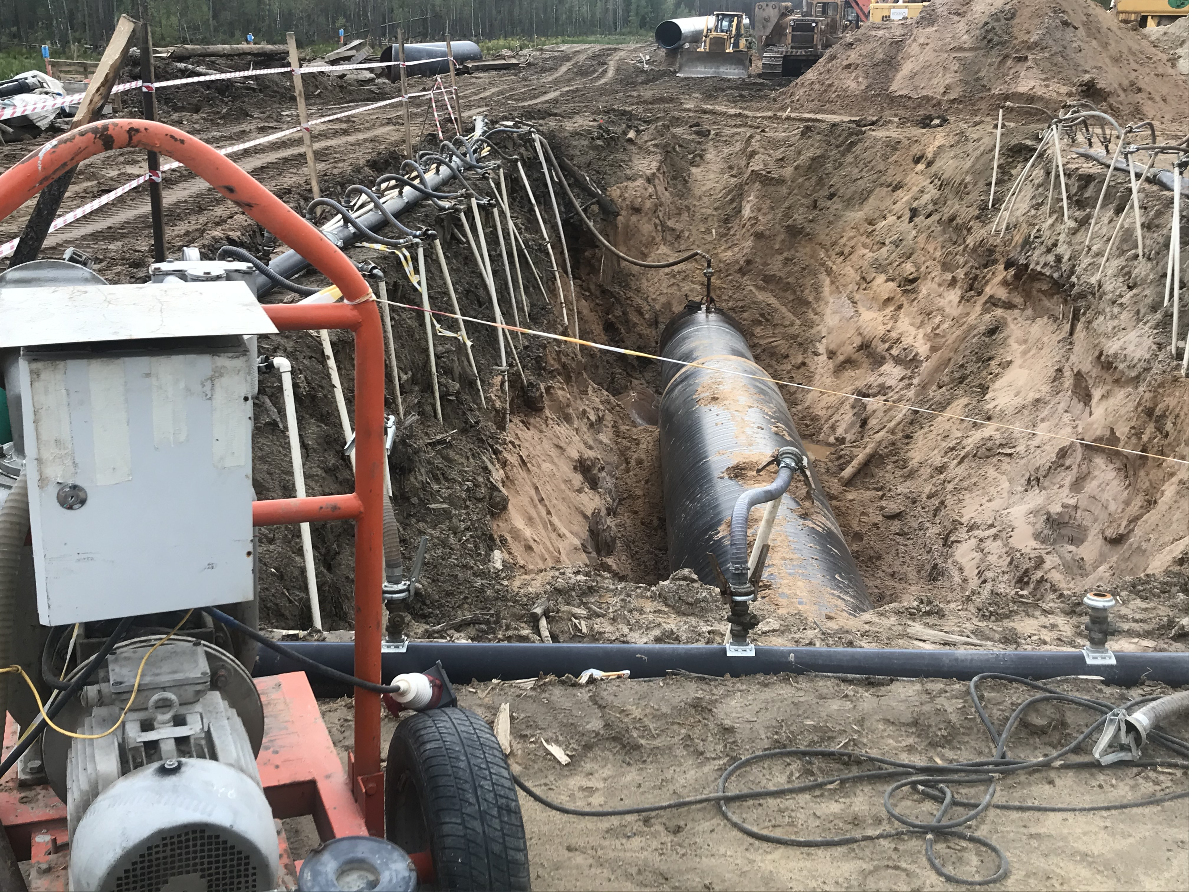 Электрическая вакуумная установка при высоком уровне грунтовых вод